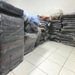 Doação de cobertores aos xavantes