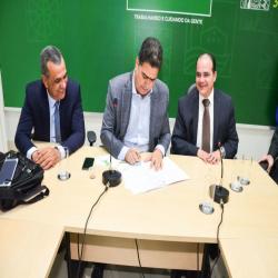 Sanção da Lei contra violação das prerrogativas - Fotografo: Davi Vale/ Prefeitura de Cuiabá