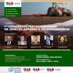 1º Congresso Mato-grossense de Direito Agrário e do Agronegócio - Fotografo: