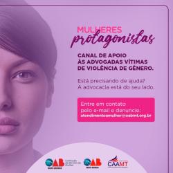 OAB-MT lança canal de atendimento para vítimas de violência de gênero