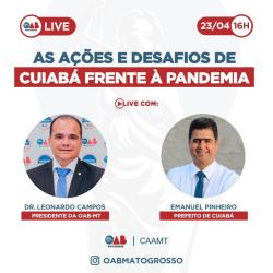 Live com Prefeito de Cuiabá