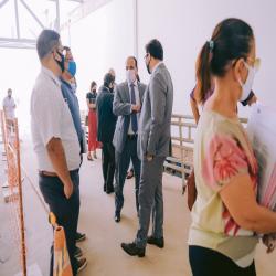 Diretores da OAB-MT e CAA-MT recepcionam profissionais da advocacia na retomada das atividades presenciais no Fórum de Cuiabá  - Fotografo: