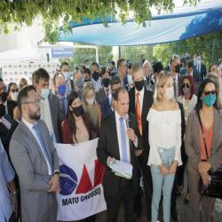 OAB-MT realiza desagravo público em frente à Turma Recursal