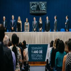 Seminário 1 Ano da Reforma Trabalhista - Fotografo: ZF Press